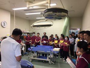 「集団救急シミュレーション訓練」を行いました。